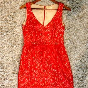 Shoshanna Red Lace Dress, size 6